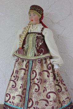 Кукла Костромская губерния, девичий костюм, XIX в./А1-05