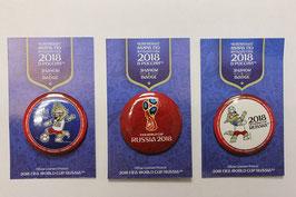 Набор значков FIFA 2018. 3шт