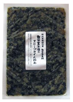 野沢菜本漬けのオリーブオイル炒め