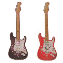 Horloge guitare rouge