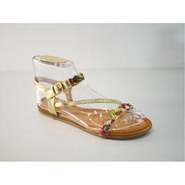 Sandales fleuries et strass