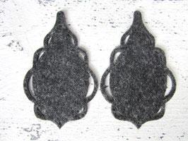 Orecchini in feltro 7x5 cm-col 34