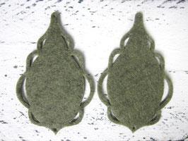 Orecchini in feltro 7x5 cm-col 55