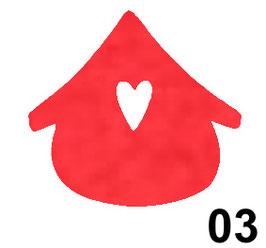 casetta cuore-conf. 3 pz