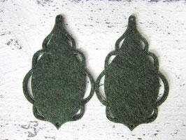 Orecchini in feltro 7x5 cm-col 60