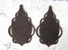Orecchini in feltro 7x5 cm-col 37