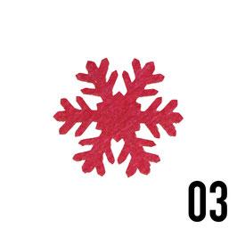 fiocco di neve (4cm)-conf. 4 pz