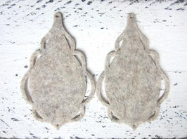 Orecchini in feltro7x5 cm-col 36