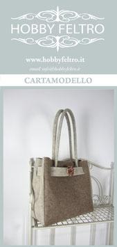 cartamodello-borsa in feltro