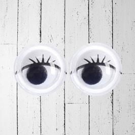 occhi per bambole con sopracciglia
