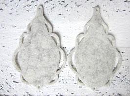 Orecchini in feltro 7x5 cm-col 66