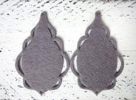 Orecchini in feltro 7x5 cm-col 80