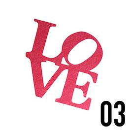 scritta love-conf. 3 pz.