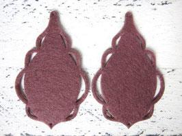 Orecchini in feltro 7x5 cm-col 70