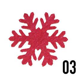 fiocco di neve (9cm)-conf. 3 pz