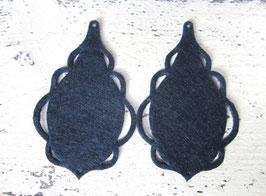 Orecchini in feltro7x5 cm-col 32