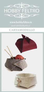 cartamodello-tre cestini in feltro (nuovi)