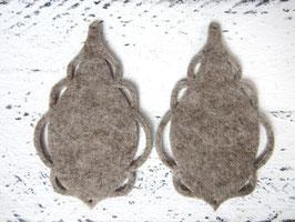 Orecchini in feltro 7x5 cm-col 64