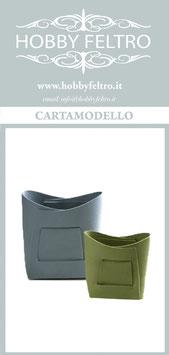 cartamodello-due cestini in feltro