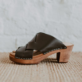 Kitty Clogs Äventyr schwarz Mid Heel