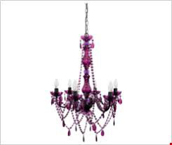 Kronleuchter violett chic