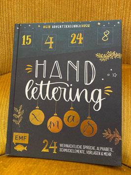 Buch-Adventskalender Handlettering