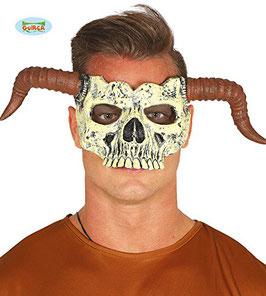 2387 - Foam half mask Calavera