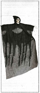 PENDAGLIO SCHELETRO NERO 180cm. - 19694