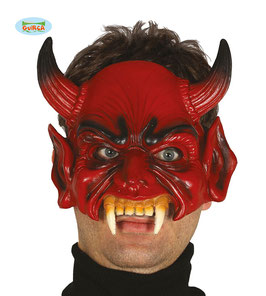 2385 - Foam half mask Devil