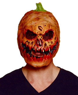 597556 - Latex head mask Pumpkin