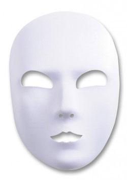 00881  - Maschera viso intero in tessuto bianco con elastico