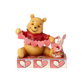 """Handmade Valentines"" Pooh and Piglet Heart - 4059746"