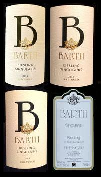 Barth, Singularis Jahrgangsvertikale 2018, 2015, 2013, 2011, Riesling