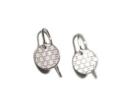 Ohrringe 'rund' - Silber