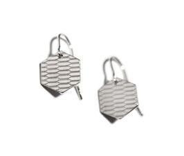 Ohrringe 'Sechseck' - Silber