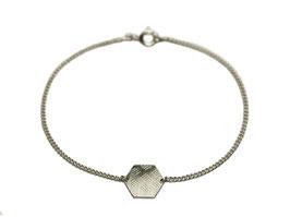 Armband 'Sechseck groß' - Silber