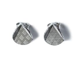 Ohrstecker '2-faltig rund' - Silber