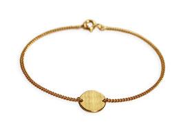 Armband 'rund groß' - Gold