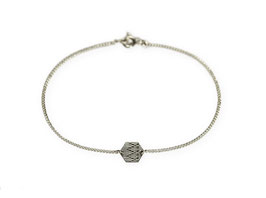 Armband 'Sechseck klein' - Roségold