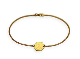 Armband 'Sechseck groß' - Gold
