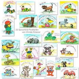 Spruchbild-Postkarten