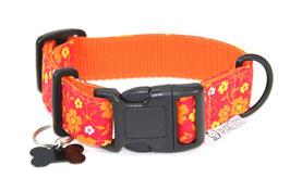 Halsband Flower orange