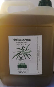 Huile d'olive vierge extra 3 litres