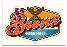 The Bronx Beer Hall Sticker Postcard