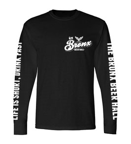 """LIFE IS SHORT, DRINK FAST"" LONG SLEEVE T-SHIRT (BLACK)"