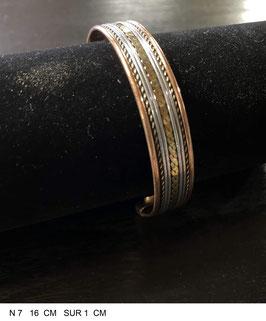Bracelet aimant cuivre N7