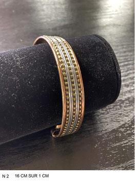 Bracelet aimant cuivre N2