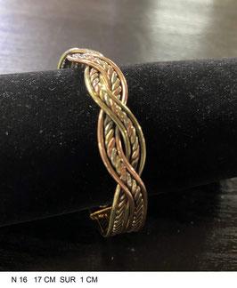 Bracelet aimant cuivre N16