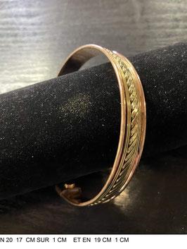 Bracelet aimant cuivre N19