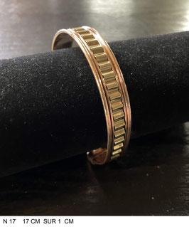 Bracelet aimant cuivre N17